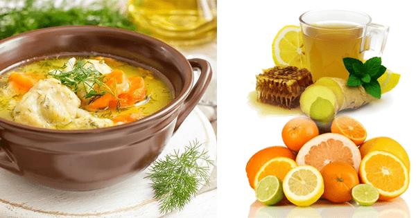¿Qué alimentos debemos tomar para la gripe y resfriado?